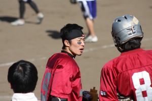 Jun at a lacrosse game
